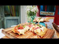Pizza frita rellena con cubierta de queso, jamón crudo y espárragos - Recetas – Cocineros Argentinos