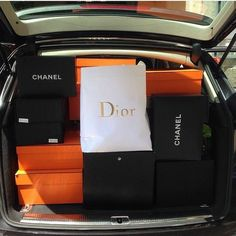 Trunk full of designer shopping bags rich lifestyle, luxury lifestyle, shopping spree Luxury Lifestyle Fashion, Rich Lifestyle, Shopping Spree, Go Shopping, Genie In A Bottle, Shop Till You Drop, Luxe Life, Bohol, Dior