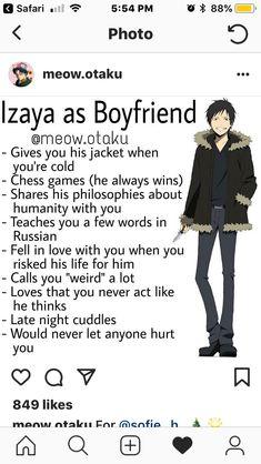 Boyfriend Best Friend, Anime Boyfriend, Future Boyfriend, Real Anime, Hot Anime Guys, Anime Love, Izaya Orihara, Durarara, Shizaya