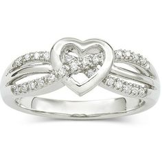 Diamond Heart Promise Ring.
