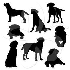 Labrador Silhouettes Clip Art