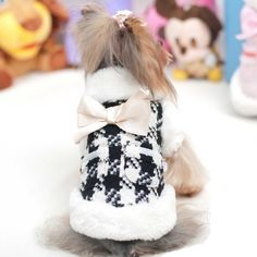Cute Houndstooth Faux Fur Trimmed Coat!