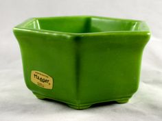 Vintage Haeger 4002 Hexagon Lime Green Planter by LuckySevenVintage, $14.00