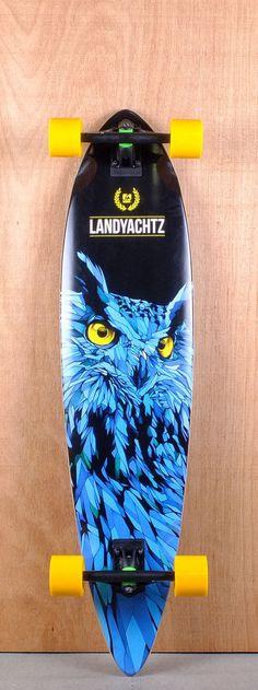 "Landyachtz 41"" Bamboo Totem Longboard Complete Bottom"
