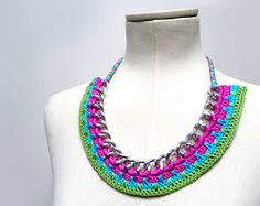 crochet necklace - Pesquisa do Google