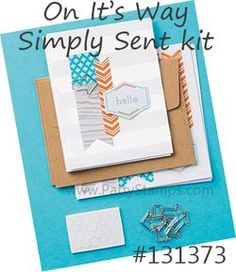 www.PattyStamps.com - On It's Way Simply Sent Card Kit from Stampin Up!
