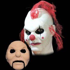 clown puppet halloween latex mask appliance