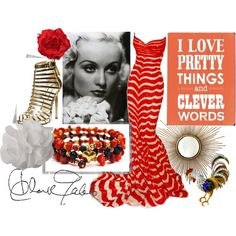 """Carole Lombard"" by lumibon on Polyvore"