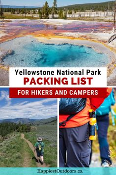 Planning a trip to Yellowstone National Park? Wondering what to pack for Yellowstone National Park? You need a Yellowstone Packing List. This post includes a general packing list for all Yellowstone visitors, a hikers packing list for Yellowstone, and a campers packing list for Yellowstone. North Cascades National Park, Canyonlands National Park, Sequoia National Park, Us National Parks, Grand Teton National Park, Rocky Mountain National Park, Yellowstone National Park, Backpacking Tips, Hiking Tips