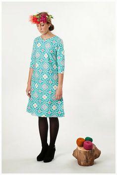 Vestido algodón estampado Ascot, Summer Dresses, Vintage, Style, Fashion, Block Prints, Fabrics, Totes, Printed Cotton