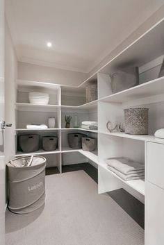 Walk in linen cupboard with room for Vac and drawers for those little extras. Walk in linen cupboard with room for Vac and drawers for those little extras. Linen Closet, Room Shelves, Cupboard Storage, Linen Cupboard, Linen Closet Organization, Closet Designs, Airing Cupboard, Bathroom Linen Closet, Closet Design