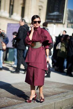 Miroslava Duma, Paris Street Style [Photo: YoungJun Koo/I'M KOO]