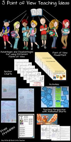 Teaching point of view can be both challenging and fun. The Common Core State Standards includes a point of view standard at each grade level. Reading Strategies, Reading Activities, Teaching Reading, Reading Comprehension, Guided Reading, 7th Grade Ela, Third Grade Reading, Fourth Grade, Creative Teaching