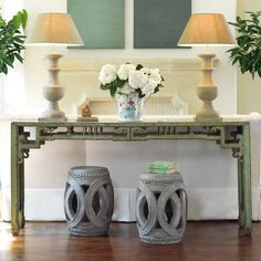 love this for pool house under tv but don't like that it doesnt have storage for electronics W1814Treasured Sage Chinese Console  Console Tables & Buffets