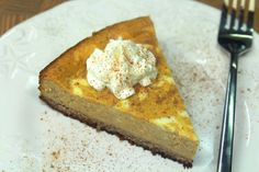 Pumpkin Cheesecake with Pecan Butter Crust