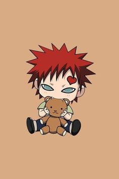 Naruto Oh my god, Gaara is just so adorable as a kid. Also adorable as an adult. He's just really, REALLY adorable. Who in the world could have been mean to that sad little face? Anime Naruto, Naruto Comic, Naruto Shippuden Sasuke, Naruto Sasuke Sakura, Naruto Cute, Naruto Smile, Kid Naruto, Shikamaru, Otaku Anime