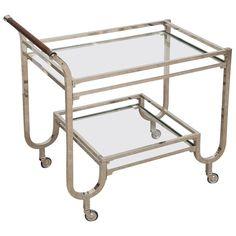 Chrome Glass Bar Cart 1