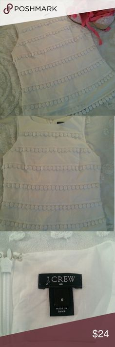 🆕 J.Crew White Sleeveless Top Beautiful top with white on white Embellished design in excellent condition. J. Crew Tops