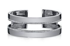 Silver Spotlight: Brady Legler. Sterling silver and diamond cuff ($3,780).