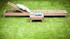 Gartenliege aus Teakholz - ausklappbare Relaxliege KORFU von JanKurtz