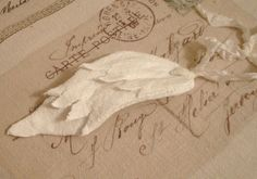 ~ The Feathered Nest ~ Free Angel Wing Ornament Tutorial
