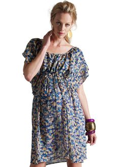 Esprit - Lavender Print Dress w Slip. Love this dress, but not available in the USA. By Esprit Maternity sister of Noppies Maternity... Dang...#TooCuteMaternityStyle.