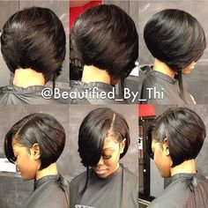 The perfect bob gives your hair lots of movement. I love this sassy bob by @beautified_by_thi and the way it flows!❤️ #Bobs #VoiceOfHair ✂️========================= Go to VoiceOfHair.com ========================= Find hairstyles and hair tips! ========================= #BobCutHairstylesShort