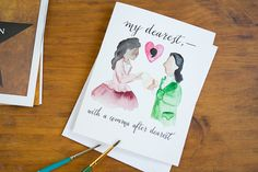 Hamilton Greeting Card  My Dearest with a Comma After Dearest