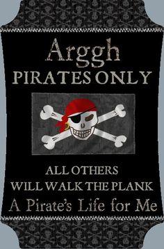 HM Gallery - Pirates Only Bedroom Door Sign