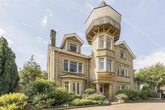 On the lookout: quirky west London home with miniature viewing tower and turret for sale in Ealing French Country Exterior, French Country House, Front Porch Remodel, Harrison Design, Unusual Buildings, Curved Walls, Melbourne House, Tower House, European Home Decor