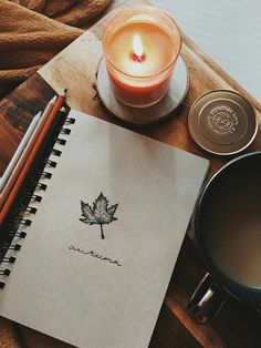 Fall sketches and sweetly scented candles