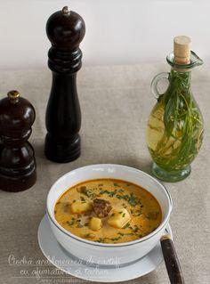 Ciorbă de cartofi cu afumătură și tarhon New Recipes, Soup Recipes, Romanian Food, Food And Drink, Cooking, Ethnic Recipes, Yum Yum, Soups, Celery