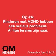 Mijn kind heeft adhd: ADHD en Omdenken