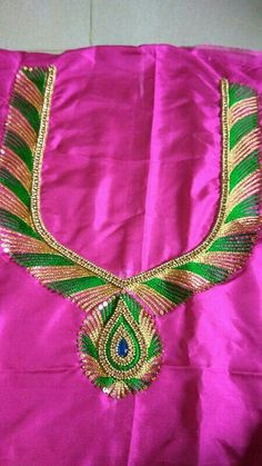 Cutwork Blouse Designs, Simple Blouse Designs, Bridal Blouse Designs, Blouse Neck Designs, Sleeves Designs For Dresses, Sleeve Designs, Saris, Hand Work Blouse Design, Maggam Work Designs