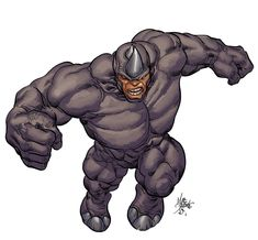 marvel rhino images | Mike Deodato, Jr. • Rhino for hasbro ( Colors by Rain Beredo )