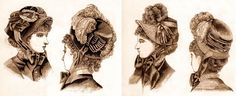 ladies hats, 1880's victorian