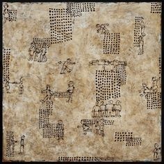 "Mia Halton Patterns Of Social Behavior Acrylic and ink on canvas 48"" x 48"" 2012 $8002013 Collectors' Choice - Sylvia White Gallery - Picasa Web Albums"