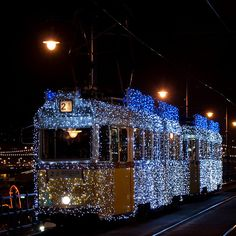 Christmas tram in Budapest