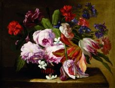 Abraham Brueghel or Mario del Fiore (? Acrylic Painting Flowers, Bunch Of Flowers, Painting Inspiration, Still Life, Beautiful Places, Illustration, Image, Van, Fabrics