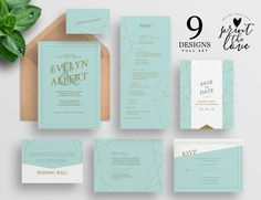 This item is unavailable Original Wedding Invitations, Beach Wedding Invitations, Printable Wedding Invitations, Wedding Invitation Design, Palm Wedding, Wedding Sets, Wedding Cards, Invite, Invitation Set