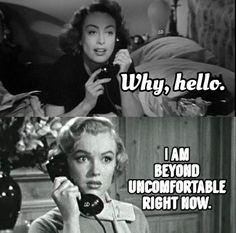 Hollywood rumor, Joan Crawford calling Marilyn Monroe, uncomfortable phone call from Joan