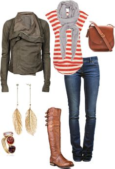 Casual layered look. Love it all. Can't wait until boot weather comes back.