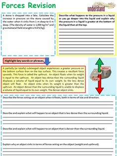 This resource is a GCSE Physics, forces revision workbook that will help enable students to revise this topic and has been written to cover all of the key . Physics Revision, Gcse Physics, Gcse Chemistry, Gcse Science, Physics Notes, Year 7 Science, Exam Study Tips, Physics Classroom, Aqa