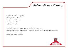 Machine Shed Butter Cream Frosting for Cinnamon Rolls
