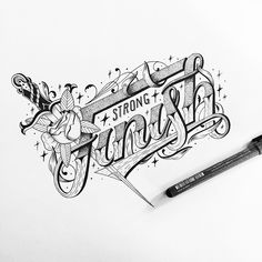 Various Typography and Lettering sketches