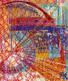 Fairground by Karen Bate Machine embroidery on fabric - Gift