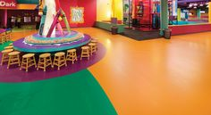 Sikafloor Comfortfloor System gives endless spectrum of colors. See this colorful Crayola Experience and more of decorative commercial floor coatings Industrial Flooring, Commercial Flooring, Floor Coatings, Design Inspiration, Interior Design, Spectrum, Creative, Floors, Basement