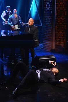 Jimmy Fallon and Billy Joel - singing... The Tonight Show