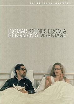 Scenes from a Marriage (1973) dir. by Igmar Bergman is a Swedish TV series. The story explores the disintegration of a marriage between Marianne, a lawyer, and Johan, a professor (played respectively by Liv Ullmann and Erland Josephson) over a long period, using a restricted cast, a naturalist, hyper-realistic cinematic style, claustrophobic close-ups, and strings of rapid, articulate monologues.