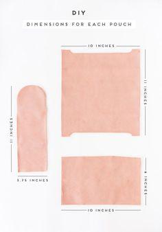 DIY Sewn Leather Pouches (Three Ways). #diygift #diy #sewing #sewingtutorial #leather